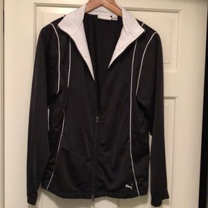 Puma Zip Front Black and White Jacket XL
